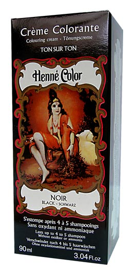 Black Henne Henna Liquid Hair Dye Colouring Cream World