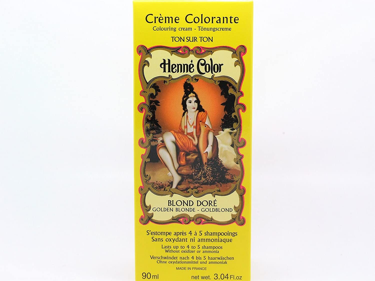 Golden Blonde Henne Henna Liquid Hair Dye Colouring Cream